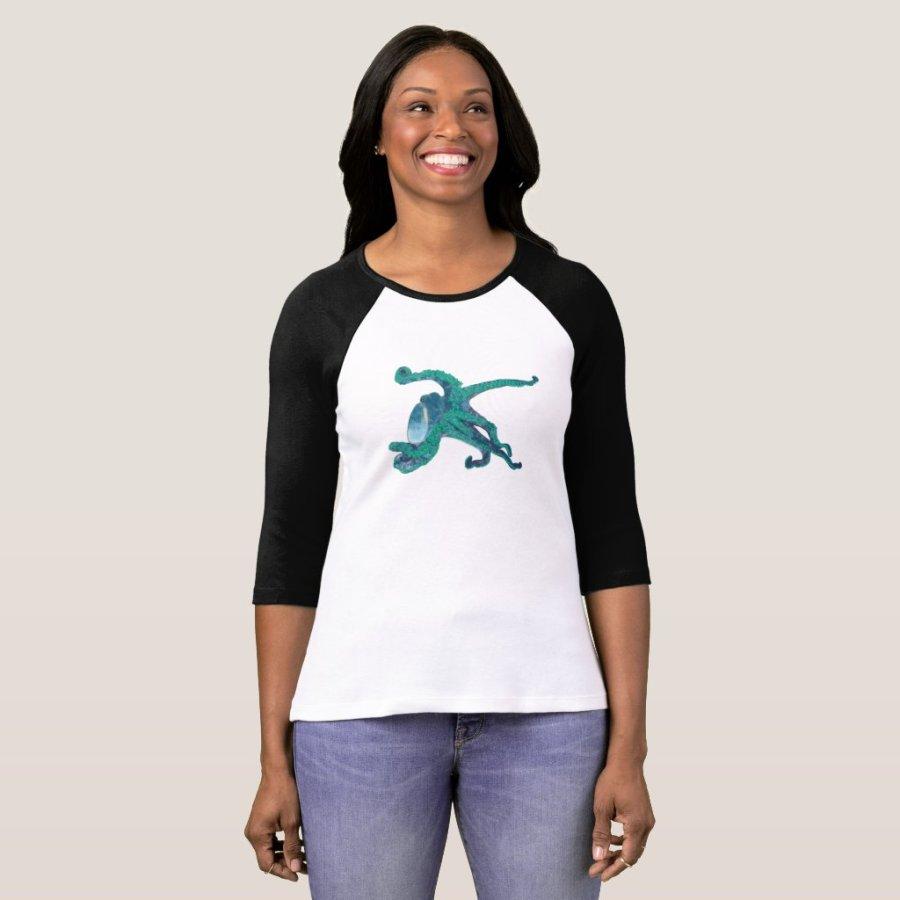 Tropical Floral Octopus Shirt