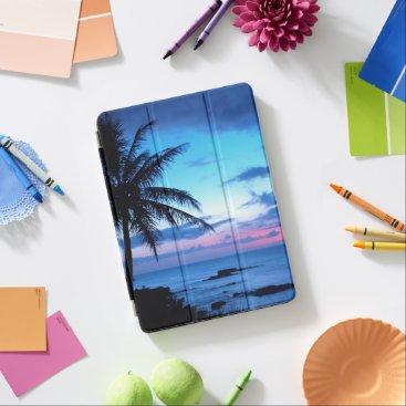 Tropical Island Beach Ocean Pink Blue Sunset Photo iPad Air Cover