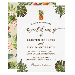 Hawaiian Wedding Invitations Zazzle