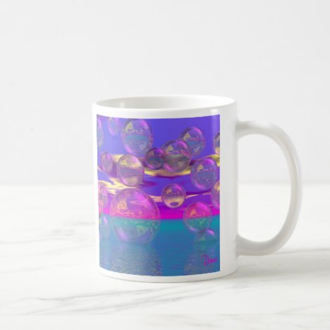 Tropical Morning – Magenta and Turquoise Paradise Coffee Mug