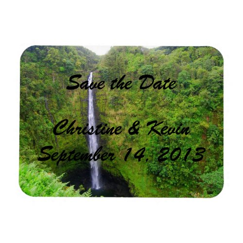 Tropical Waterfall Save the Date Magnet premiumfleximagnet