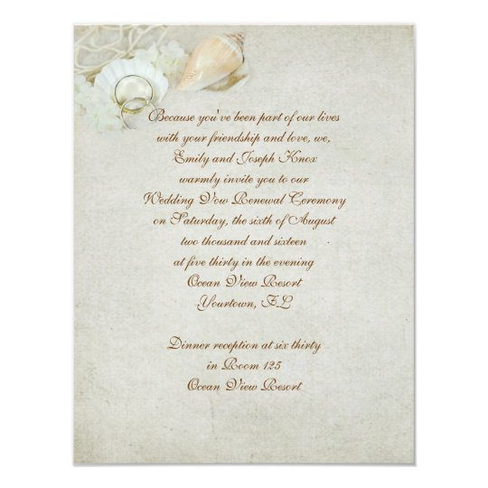 Renewal Of Marriage Vows Invitations