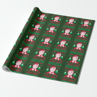 Trump Christmas Sweater - Make Christmas Great Aga Wrapping Paper