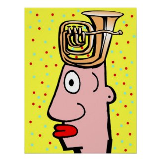 Tuba Head Print