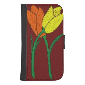 Tulips Galaxy S4 Wallets
