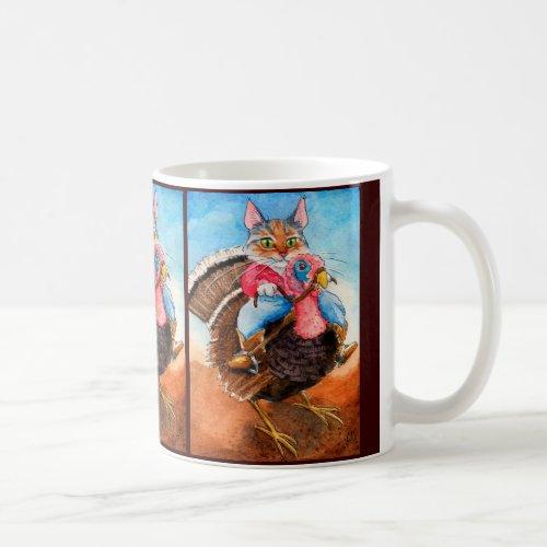 Turkey-wrangler Cowboy Cat mug
