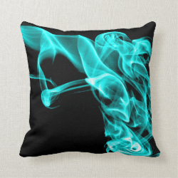 Turquoise Black Modern Design Pillow Cushion