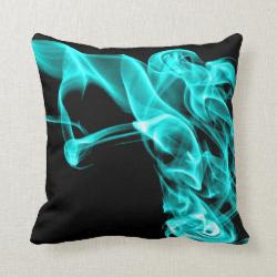 Turquoise Black Modern Design Pillow Cushion