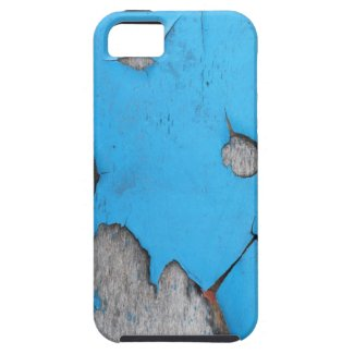 Turquoise Blue Paint Peeling Off Wood Wall iPhone 5 Cover
