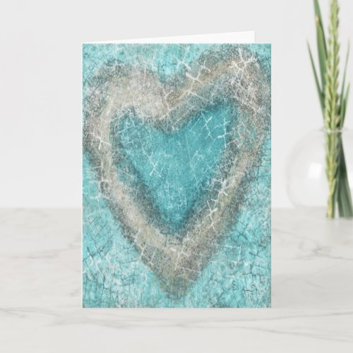Turquoise Love Greeting Card