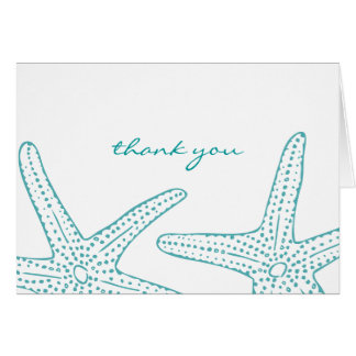 Turquoise Starfish Thank You Card