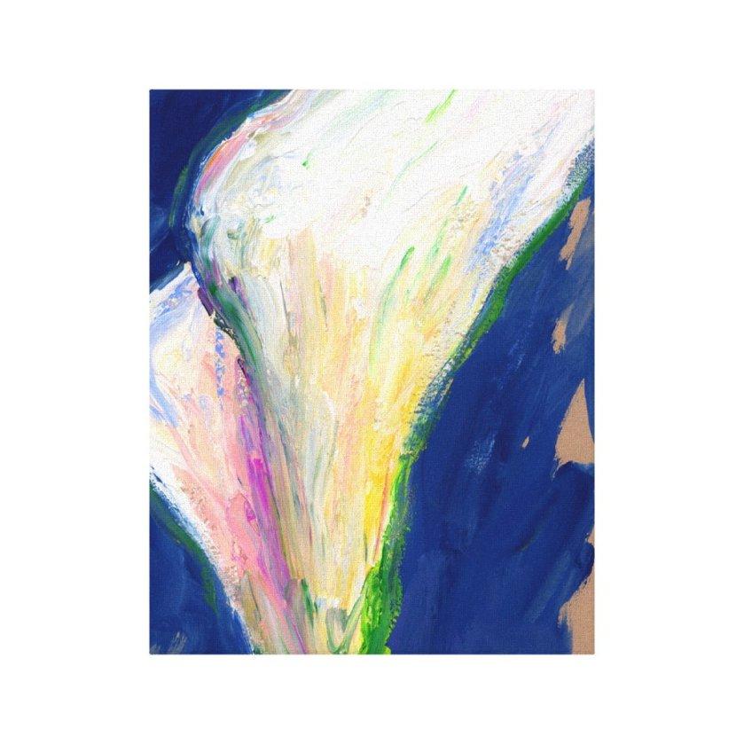 Tuxedo Cuff White Calla Lilies Canvas Art Print