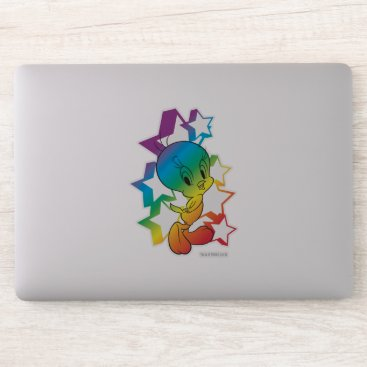 Tweety Rainbow Stars Sticker