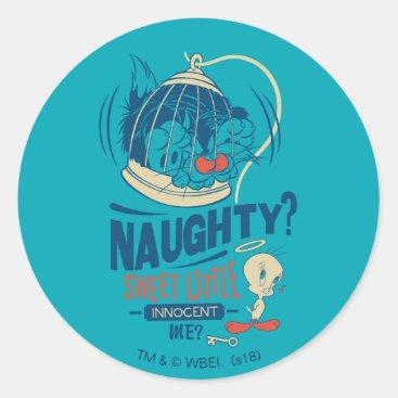 TWEETY™- Sweet Little Innocent Me? Classic Round Sticker