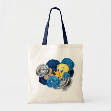 Tweety With Roses Tote Bag