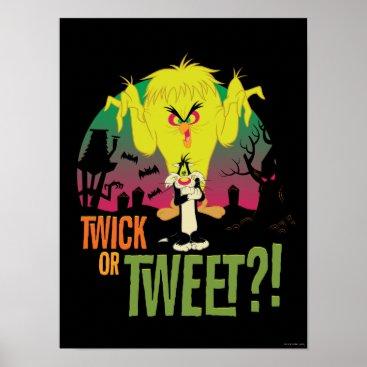 """""""Twick or Tweet"""" TWEETY™ & SYLVESTER™ Poster"""