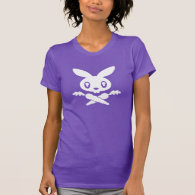 Twink Bunny Skull Ladies T-Shirt