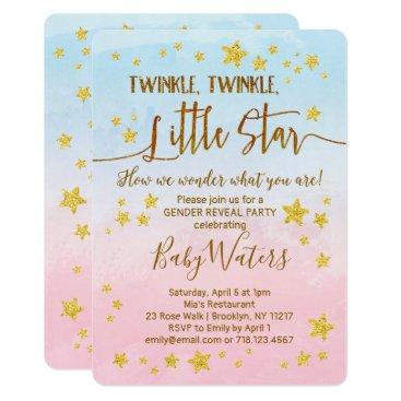 Twinkle Twinkle Little Star Gender Reveal Invite