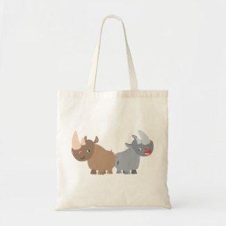 Two Cartoon Rhinos Bag bag