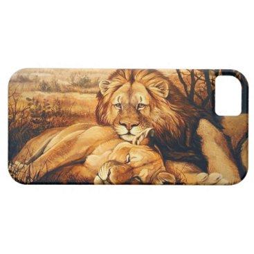 Two Lion couple iPhone SE/5/5s Case