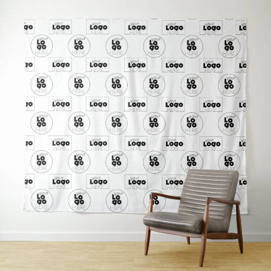 Two Logo Step and Repeat Photo Booth Backdrop