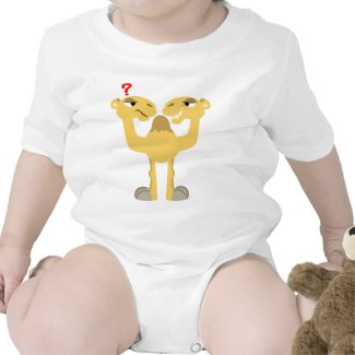 Two sides of the Same Cartoon Camel Baby T-Shirt shirt