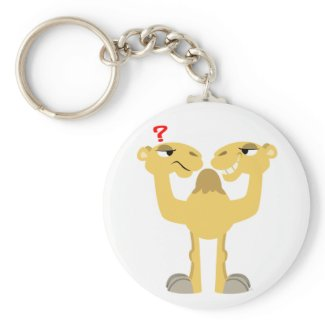 Two sides of the Same Cartoon Camel Keychain keychain