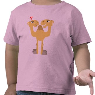 Two sides of the Same Cartoon Camel KIds T-Shirt shirt