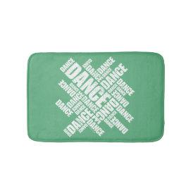 Typographic Dance Bath Mat