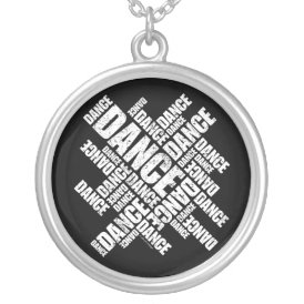 Typographic Dance (Distressed) necklace