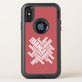 Typographic Dance (Distressed) OtterBox Defender iPhone X Case