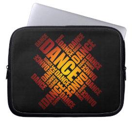 Typographic Dance (fire) Computer Sleeve