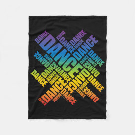Typographic Dance Fleece Blanket