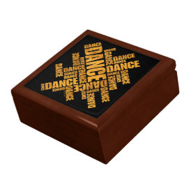Typographic Dance (Rust) Jewelry Box