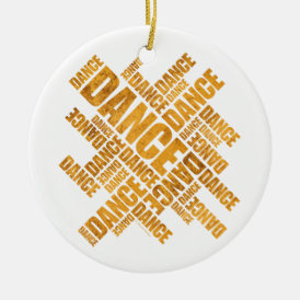 Typographic Dance (Rust) ornament