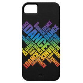 Typographic Dance (Spectrum) iPhone 5 case