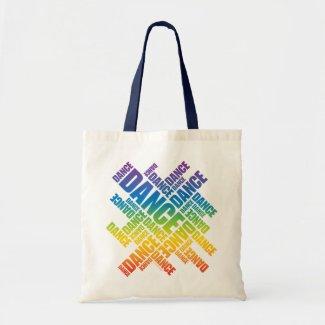 Typographic Dance (Spectrum) Tote Bags