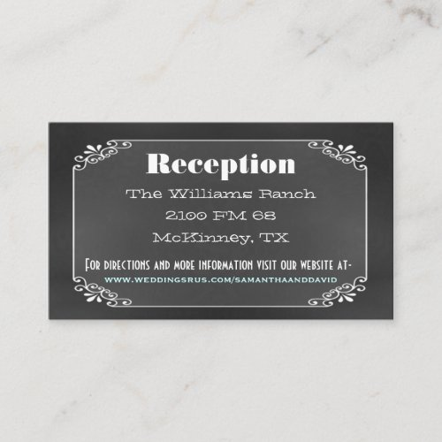 Typography Chalk Board Wedding Enclosure Card
