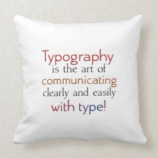 Typography is about communicating with type