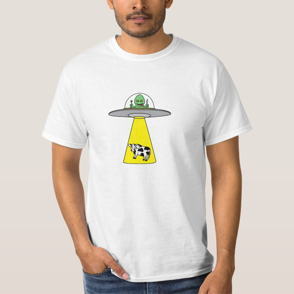 UFO taking cow T-Shirt