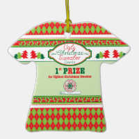 Ugly Christmas Sweater Party 1st Place Prize Xmas Christmas Tree Ornaments