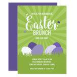 ❤️ Ultra Violet & Green Easter Brunch Egg Hunt Invitation