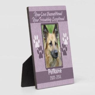 Unconditional Love Dog Pet Sympathy Custom Plaque