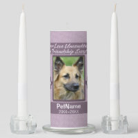 Unconditional Love Pet Sympathy Custom Unity Candle Set