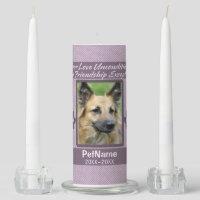Unconditional Love Pet Sympathy Custom Unity Candle Set