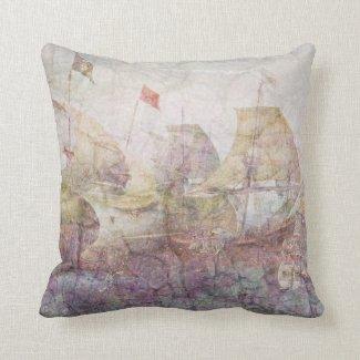 Under Full Sail (pink) Pillows