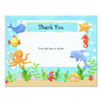 Under the Sea Birthday Party Thank You Card
