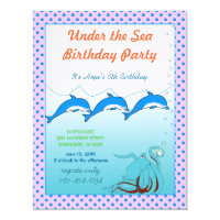 Under the Sea Invitation Birthday Party