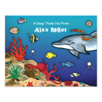 Under the Sea- Ocean Life Note Card