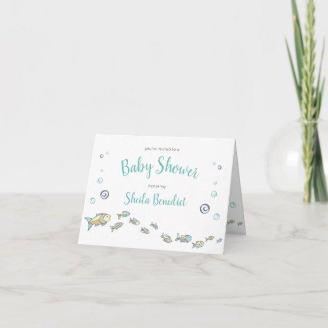 Sea Ocean Themed Baby Shower Invitation